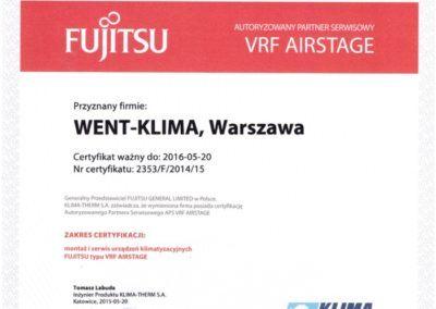 Fujitsu VRF 2015