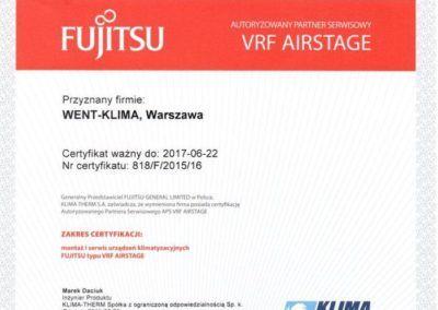 Fujitsu Vrf 2016
