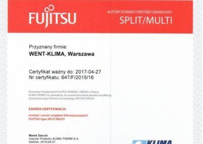 fujitsu split multi 2016